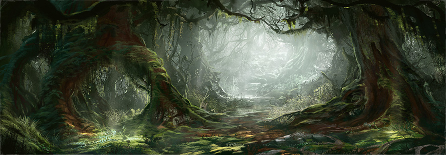 hobbit fantasy forest trees - photo #15