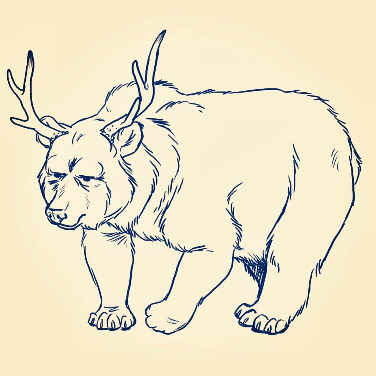 Deer Drawing Drawings of Deer Antlers