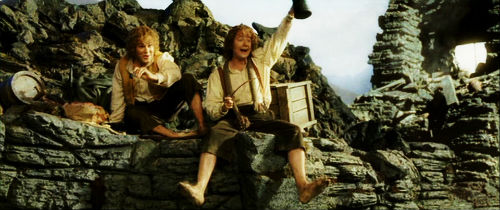Merry and Pippin in Isengard