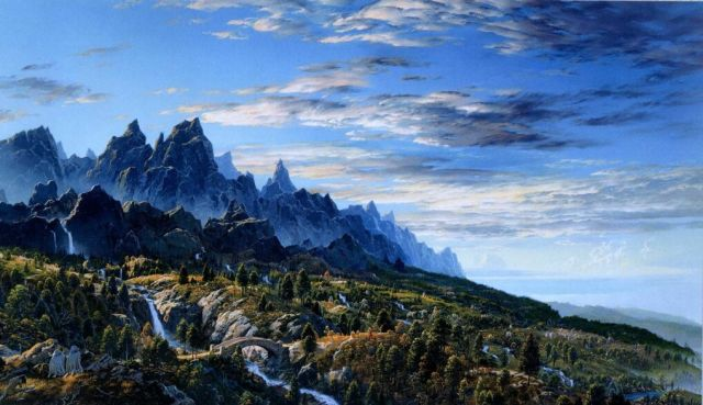 Art LOTR Nasmith First Sight of Ithilen