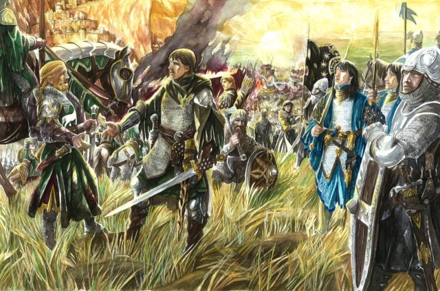 Eomer-and-Aragorn-by-Abe-Papakhian