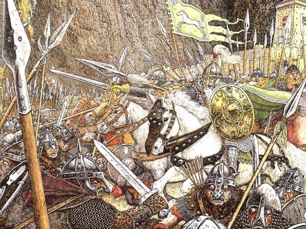 La charge de Rohan